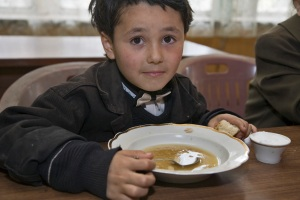 boy with soup