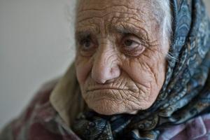 wrinkled face
