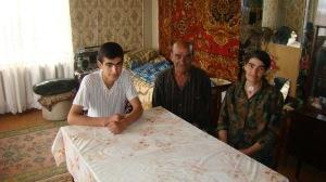 JN beneficiary Varazdat Avetisyan with his parents