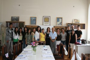 New grantees with Mr. Ounjian 1