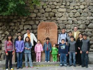With CASP Meghri kids