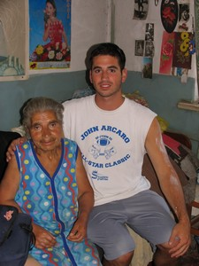 James with Gyumri Soup kitchenbeneficiary Grandma Noune