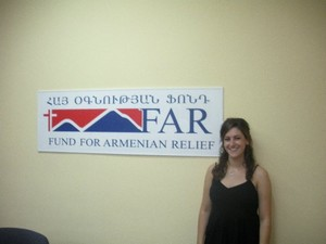 Samantha at the FAR offices in Yerevan