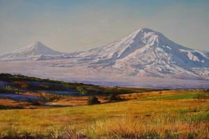 Samuel Lajikian Ararat in Summer 12 X 16 inch +