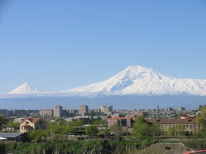 Mt. Ararat view from Victory bridge