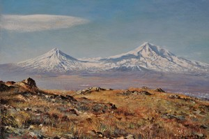 Samuel Lajikian Ararat in Autumn 12 X 16 inch +