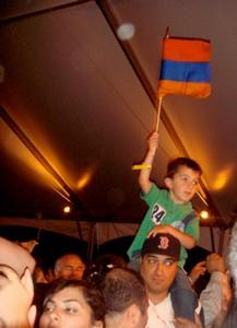 Young fan at Boston festival