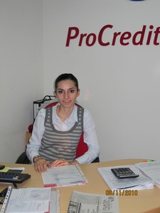 Harutyunyan Arus Mathevosian 2007 Graduate, Now ProCredit Bank Branch Manager